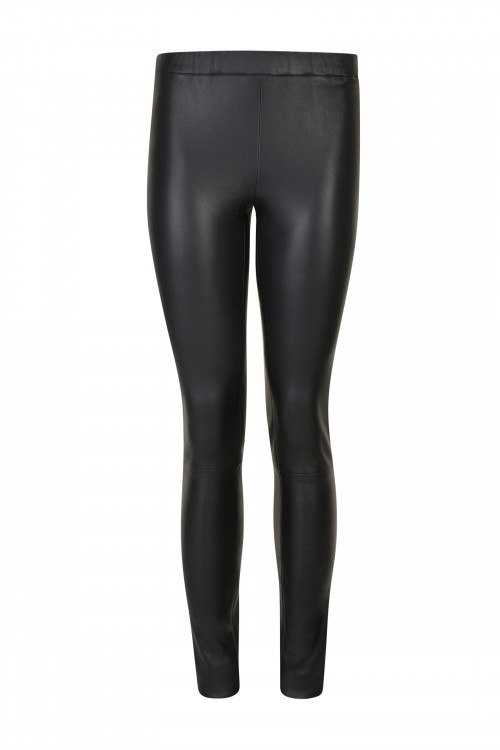 Small product image of LEGGING ICONIQUE EN CUIR STRETCH ANTHRACITE