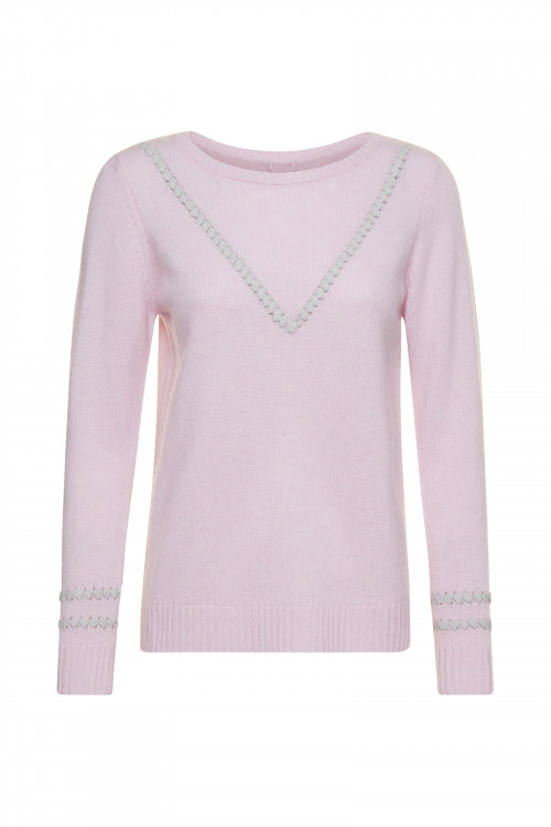 Small product image of PULL COL V PLAGE ROSE