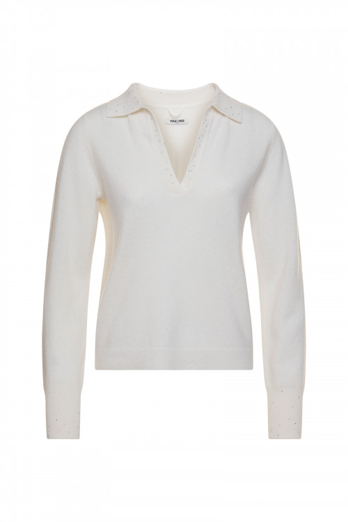 Small product image of PULL COL V POESIE BLANC