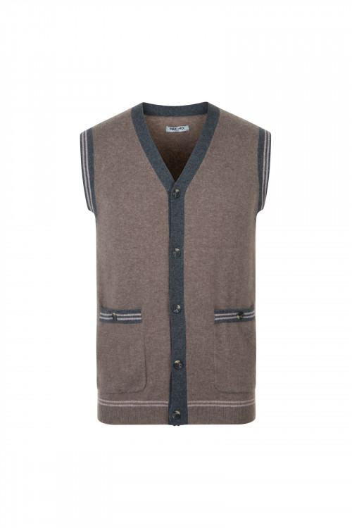 Small product image of GILET G03 MIXBROWN