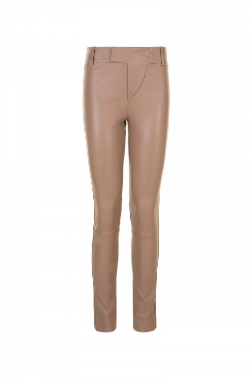 Small product image of LEGGING ZIPE EN CUIR STRETCH PERBAPTISTE  ICEDBROWN