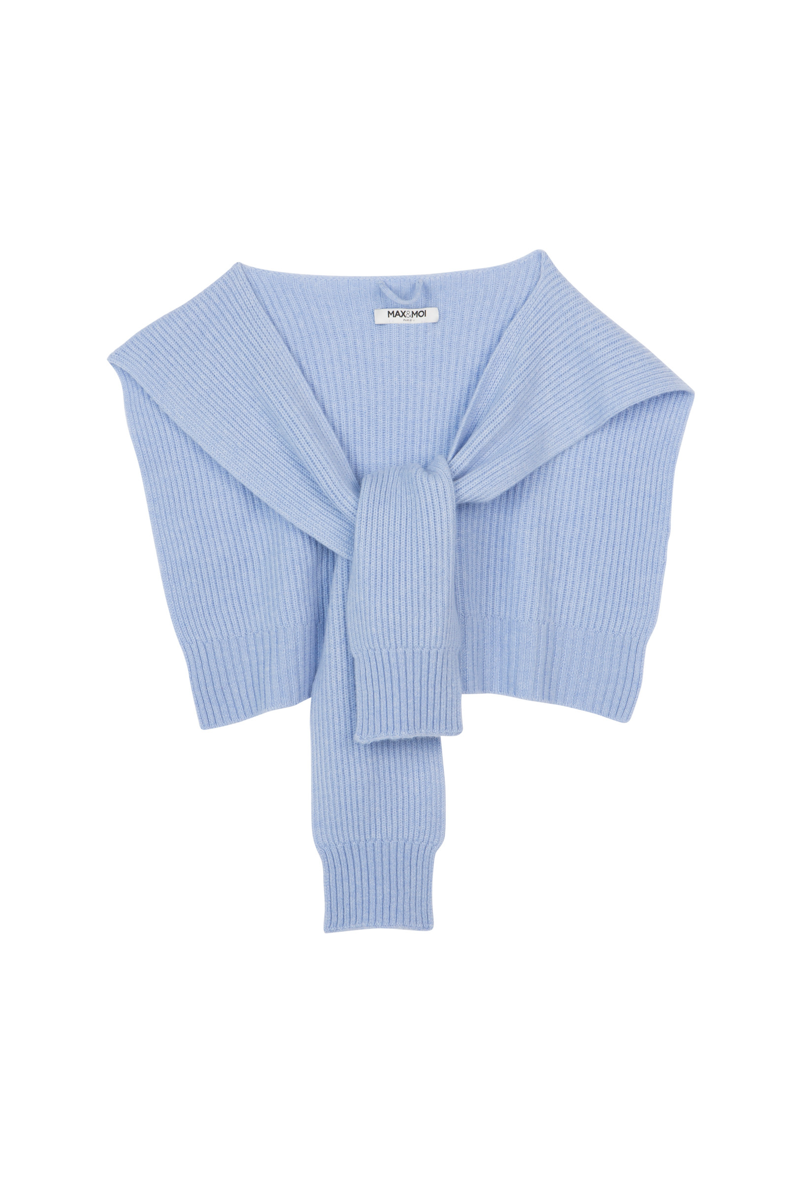 KNITTED SHAWL IN JERSEY KNIT AMORY  BLUEBEACH