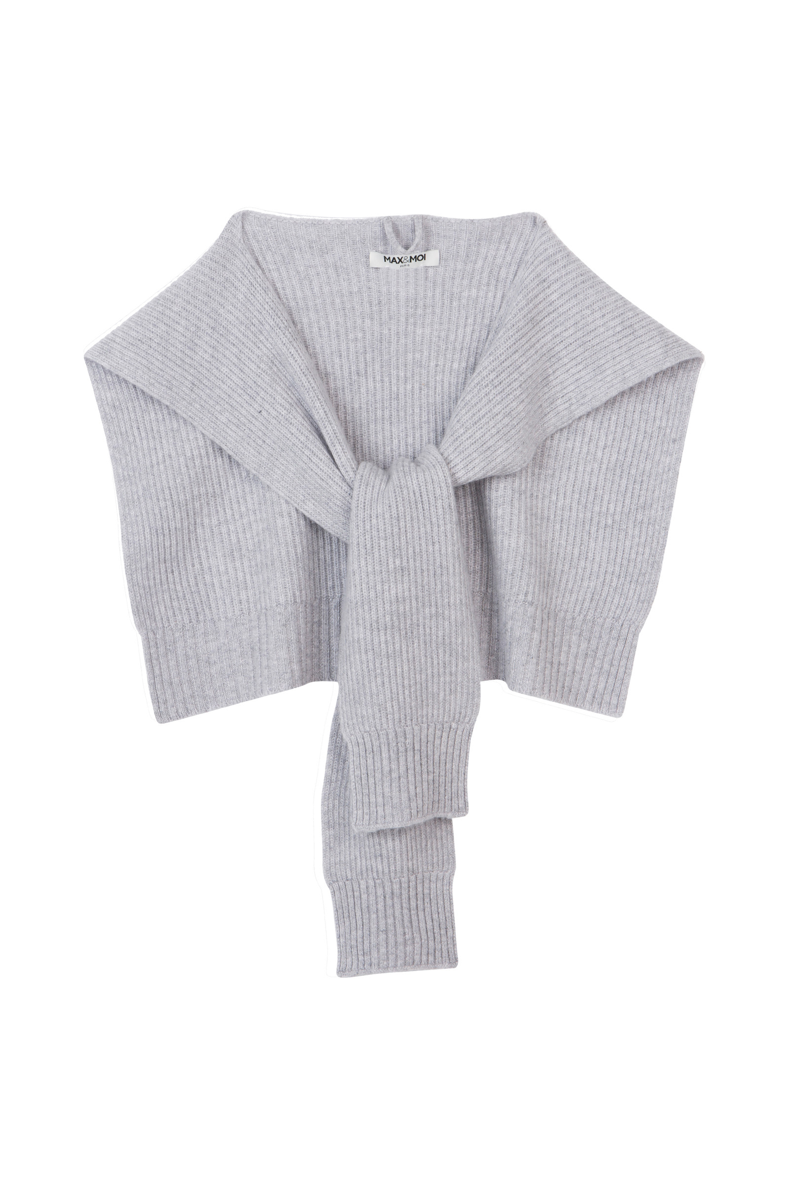 KNITTED SHAWL IN JERSEY KNIT AMORY  GREY
