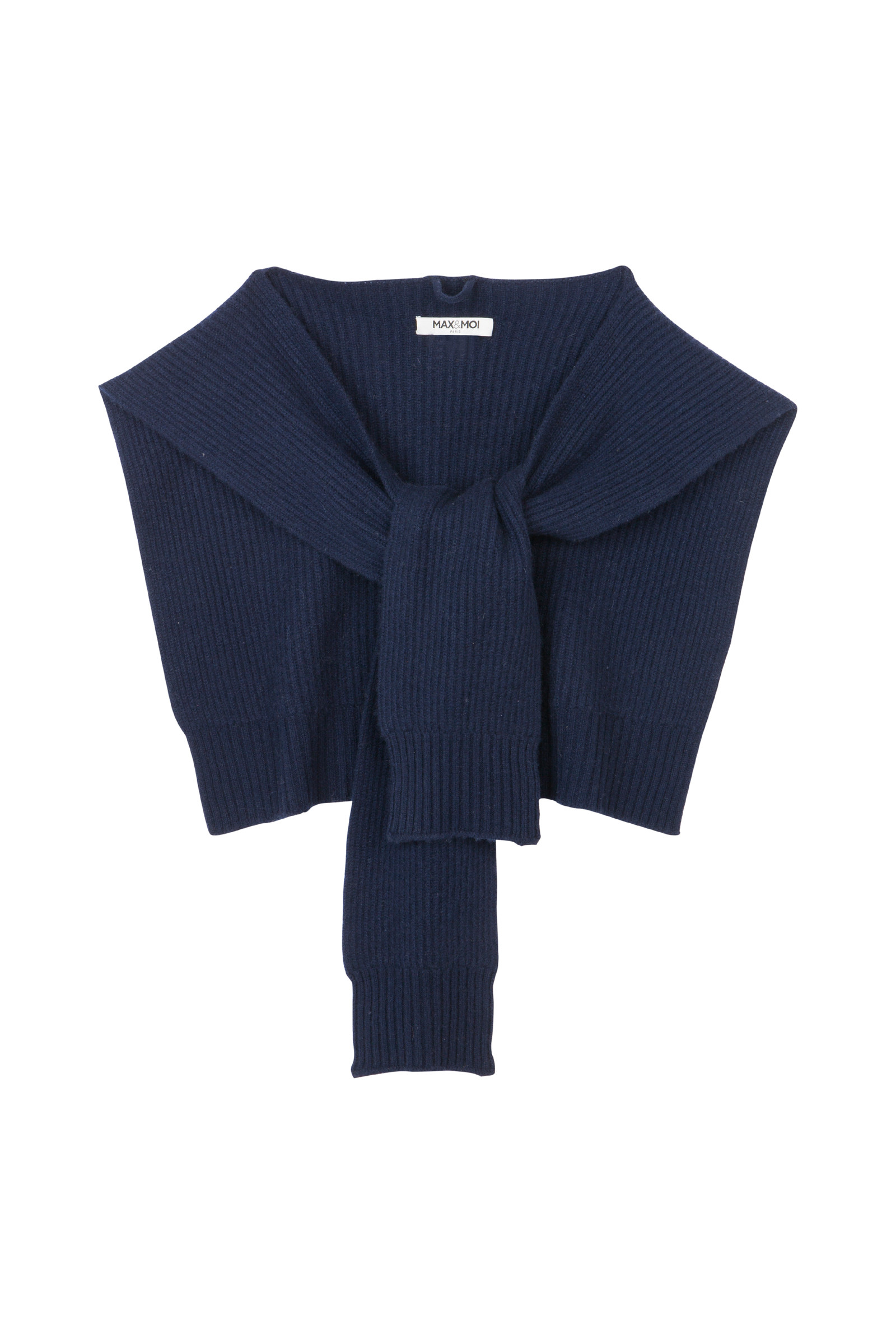 KNITTED SHAWL IN JERSEY KNIT AMORY  NAVY