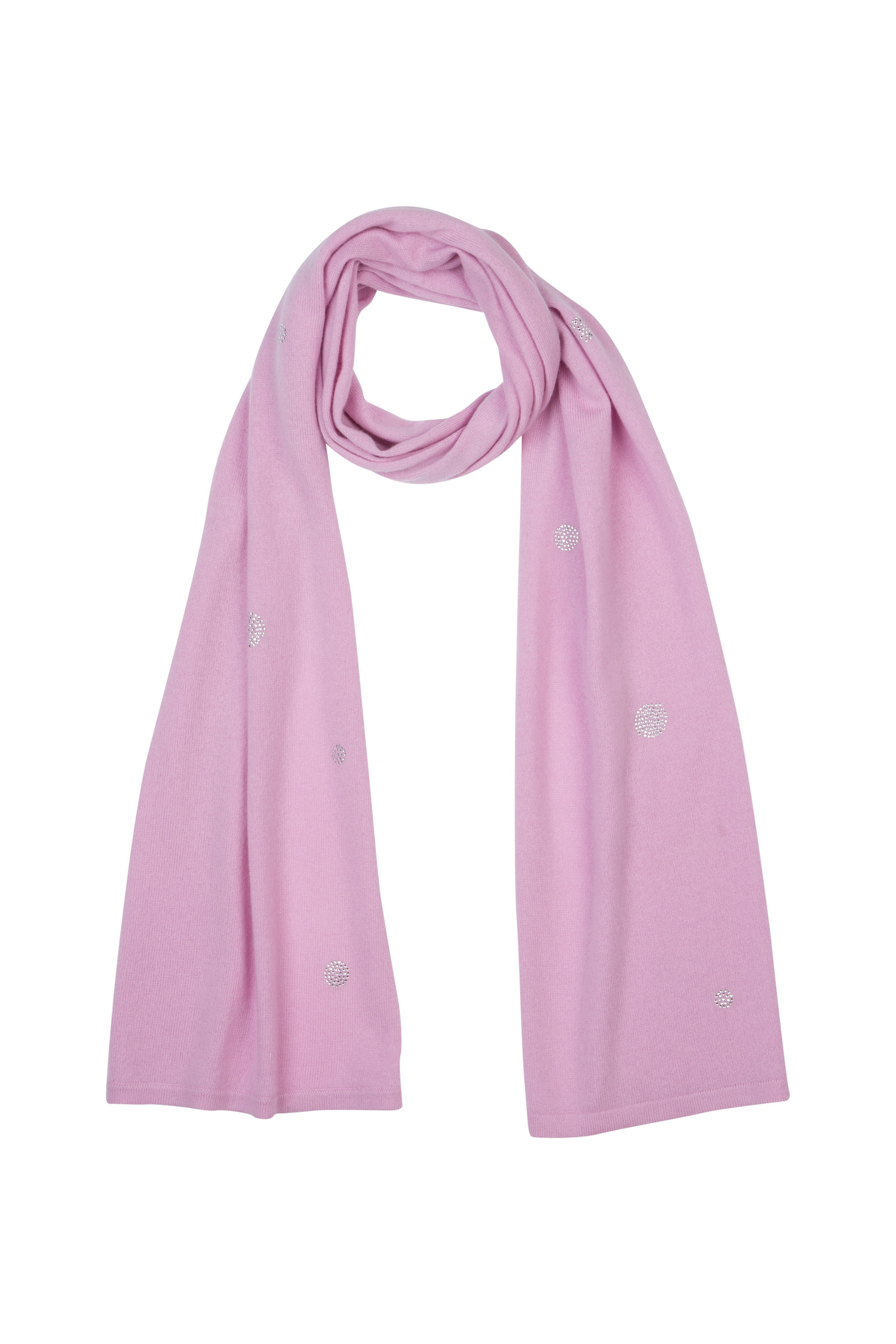 ARTLEY CASHMERE SCARF WITH STRASS LILAC