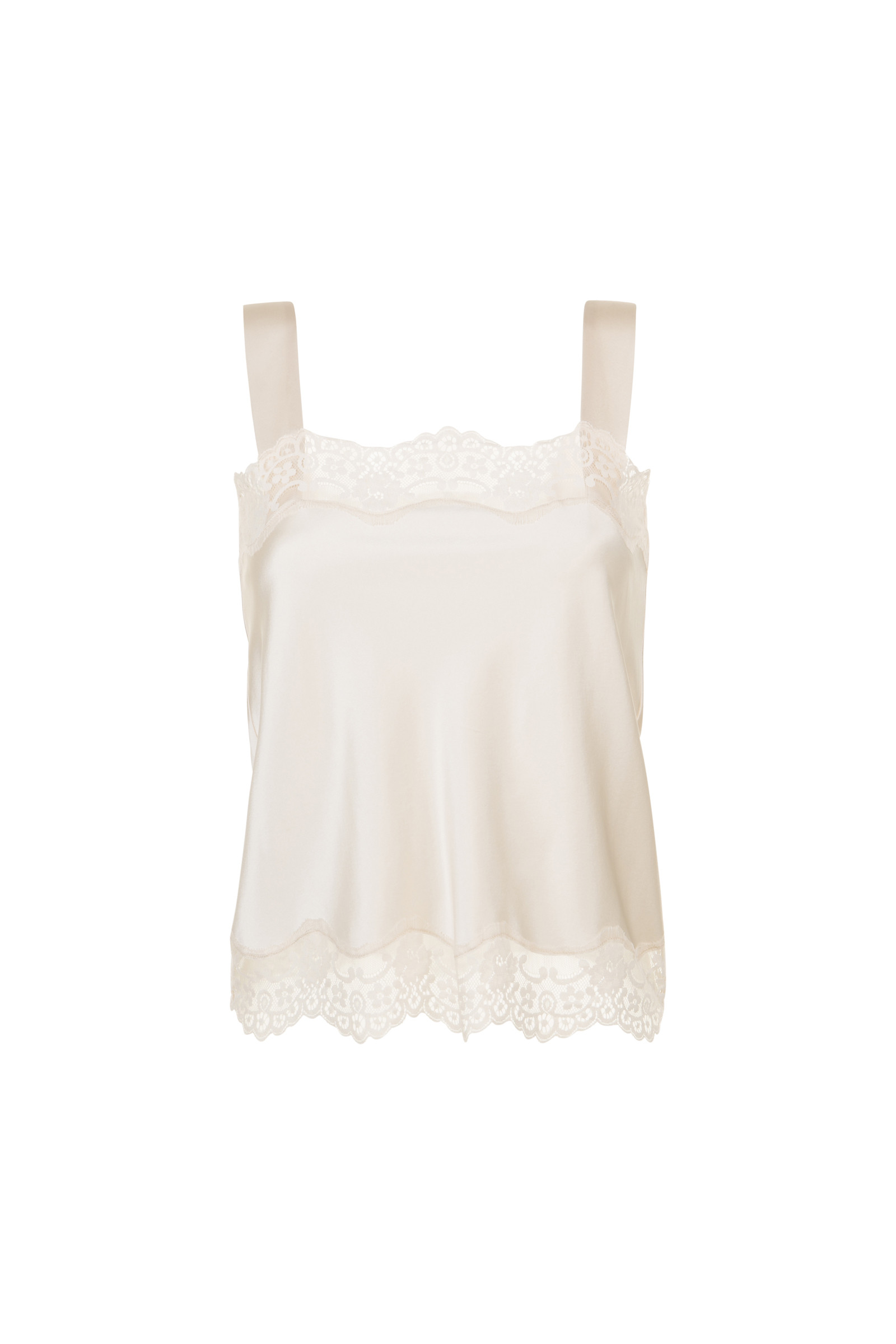 TOP IN SILK AND LACE TEDDY  POWDER