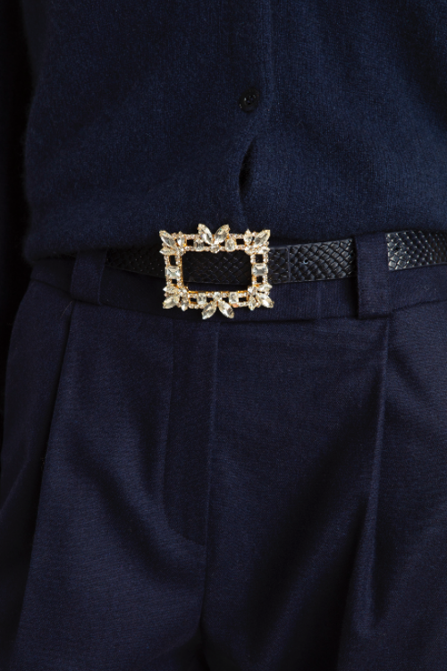 Small product image of ADEL FANCY LEATHER BELT NAVY