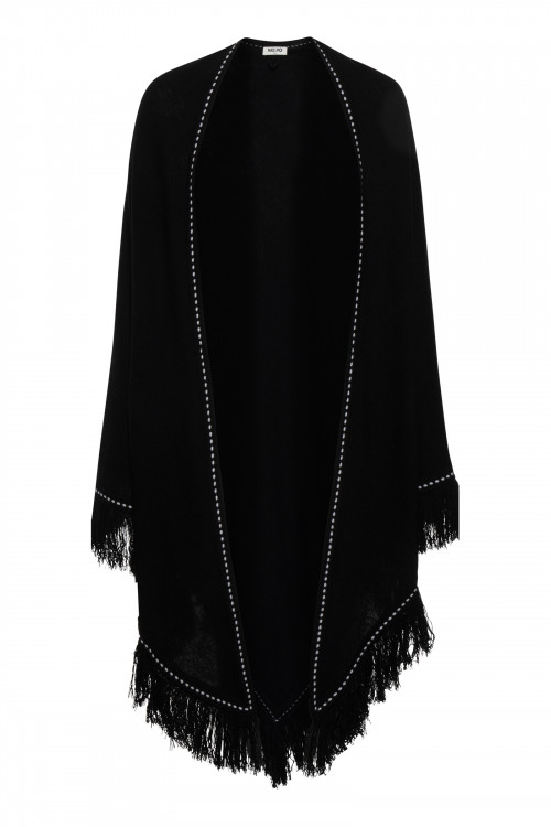 Small product image of KNITTED SHAWL ARIELLE BLACK