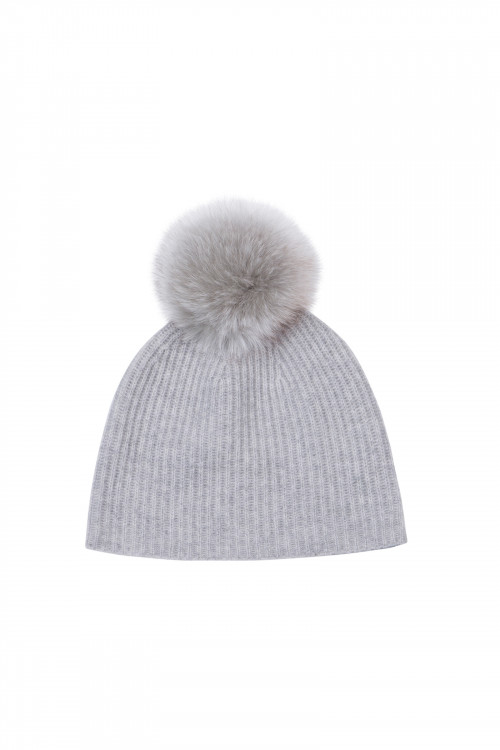 ADAM RIBBED KNIT BEANIE GREY