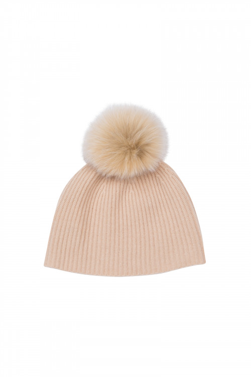ADAM RIBBED KNIT BEANIE NUTS
