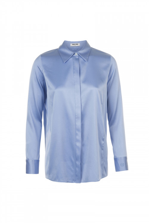 Small product image of SILK SHIRT LEVY BLUEBEACH