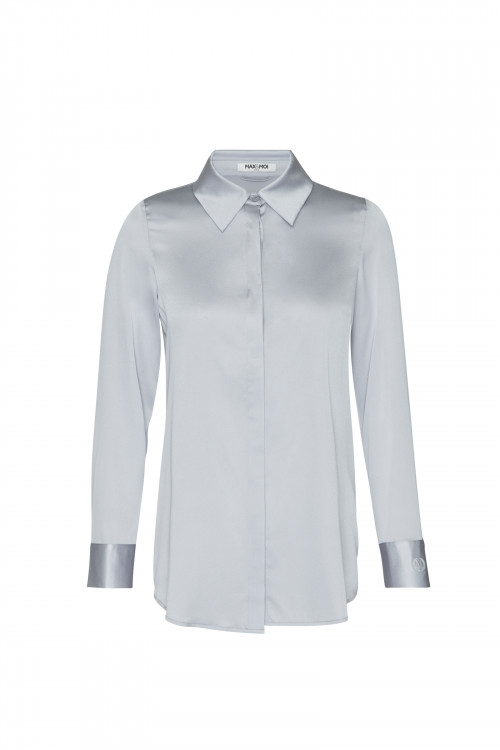 Small product image of SILK SHIRT LEVY MISTGREY