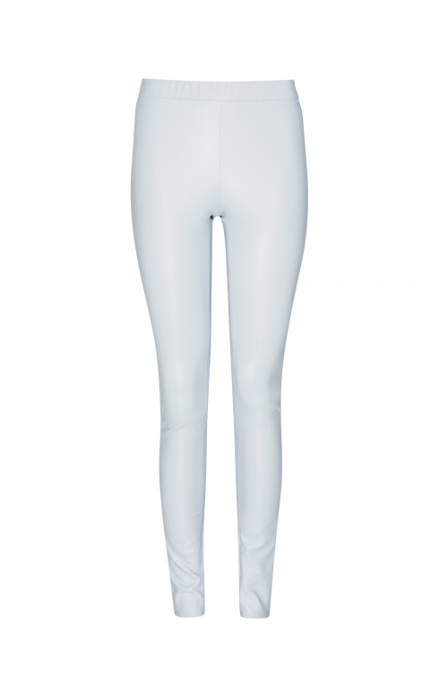 Small product image of STRETCH LEATHER LEGGINGS MISTGREY