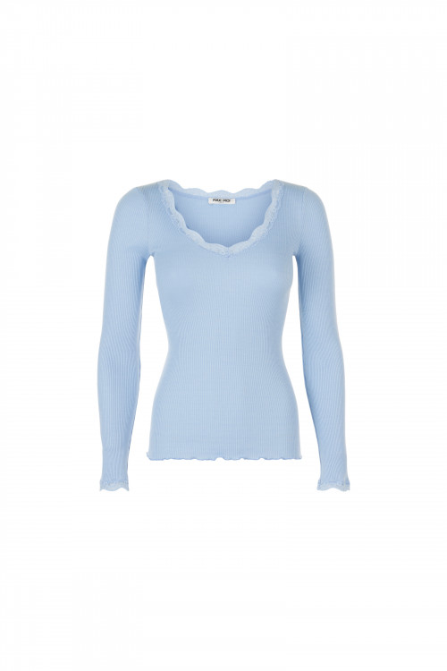 Small product image of TOP RIBBED KNIT AND LACE TANGI  BLUEBEACH