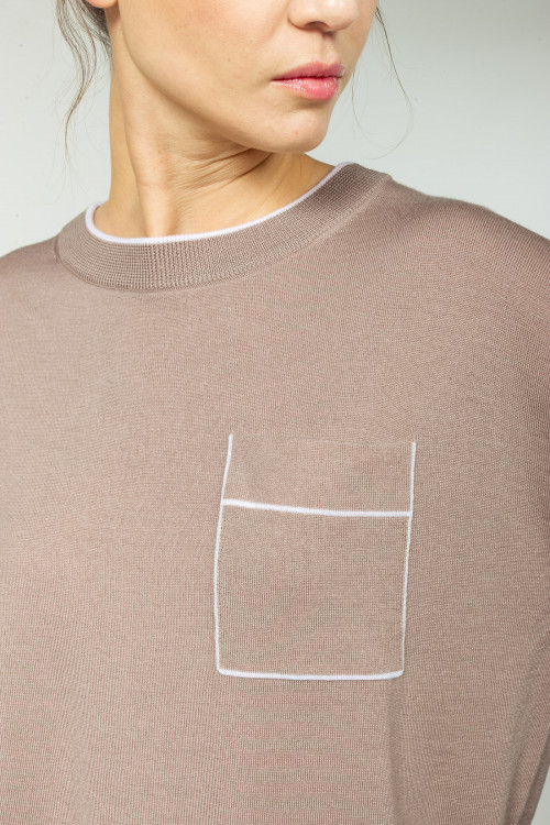 Small product image of V NECK JUMPER PIANOLO CHATAIGNE