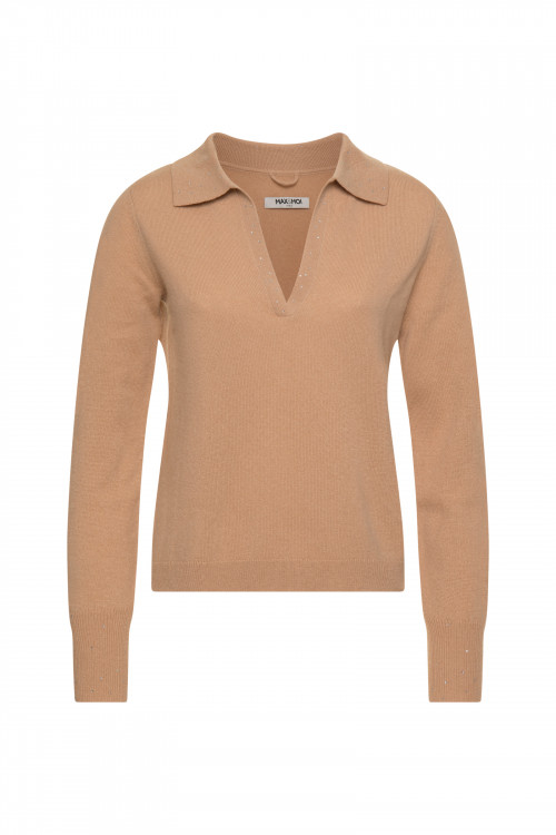 Small product image of V NECK JUMPER POESIE PECAN