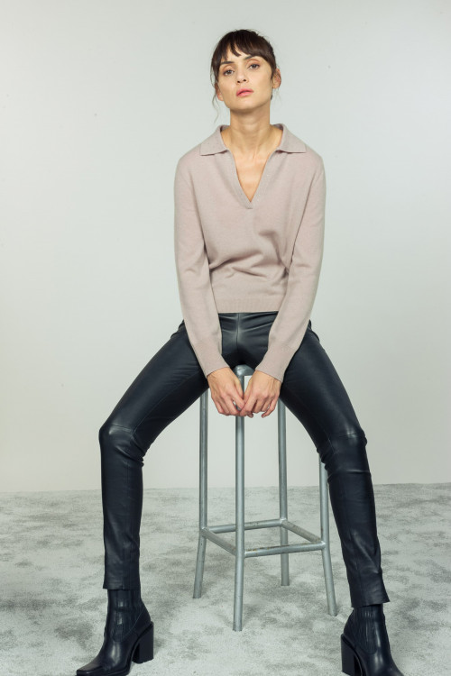 Small product image of V NECK JUMPER POESIE JUTE