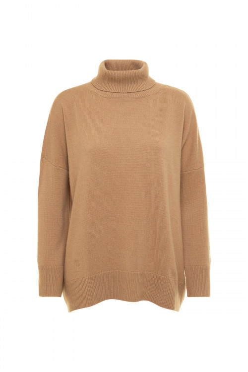 Small product image of TURTLE NECK JUMPER PRAIRIE PECAN