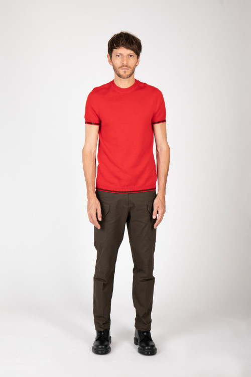 Small product image of TSHIRT T01 RED&BLACK