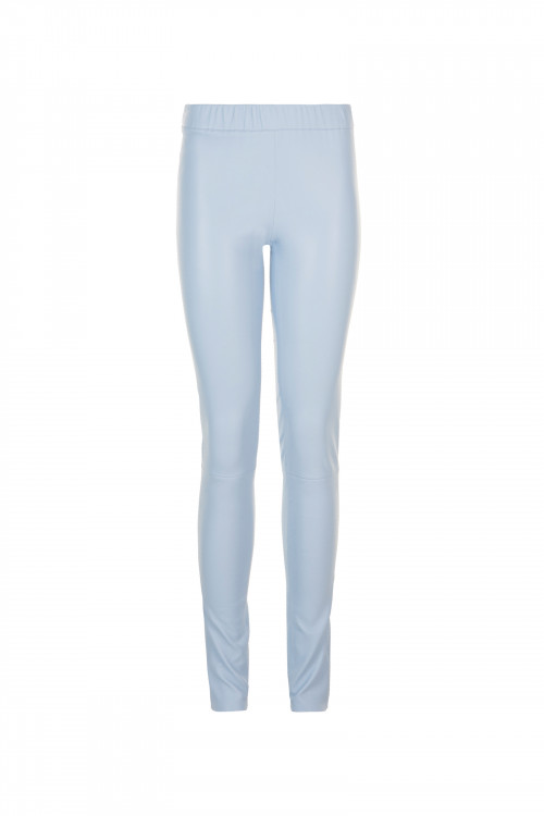 Small product image of STRETCH LEATHER PERLEGGINGS LIGHTBLUE
